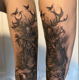 Leszy - Winebago , bear, wolf tattoo
