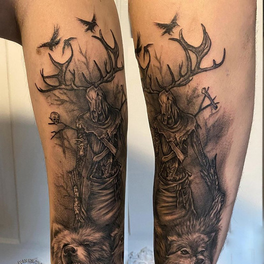 Leszy - Winebago , bear, wolf tattoo