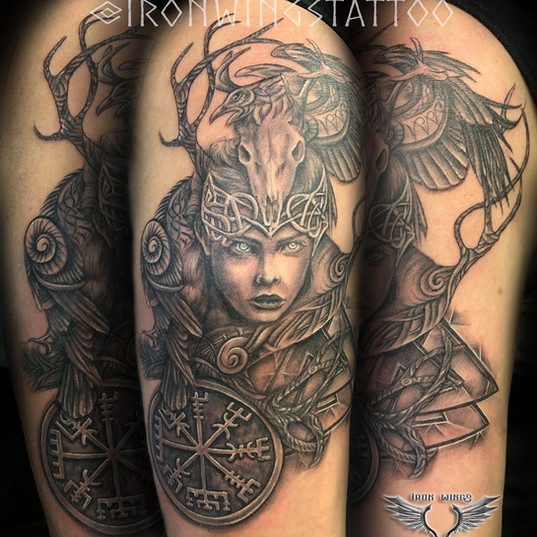 Valkyrie - arm tattoo