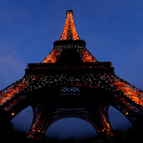 Eiffel tower, Paris, at night