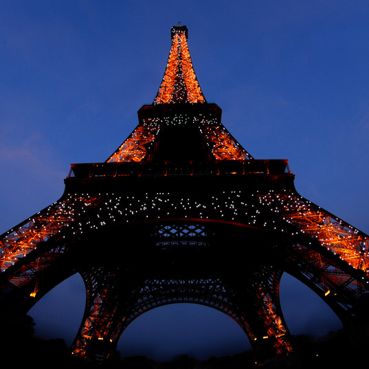 Eiffel tower, Paris, at night