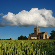 Thriplow church heavenly clouds