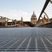 Millenium bridge view of St Paul's, London