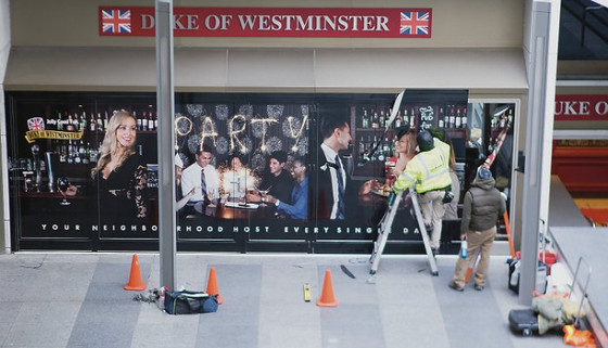 14 days to shoot,print and install a 30 ft mural for Duke Pubs and Goose Island Beer - Toronto