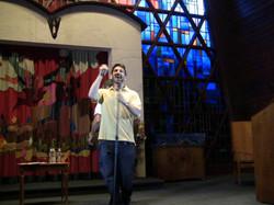 Alex performing