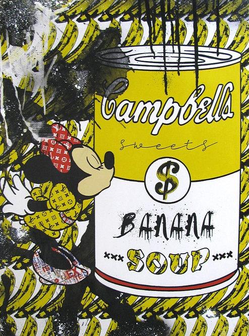 Miss Banana by Misako Street Art