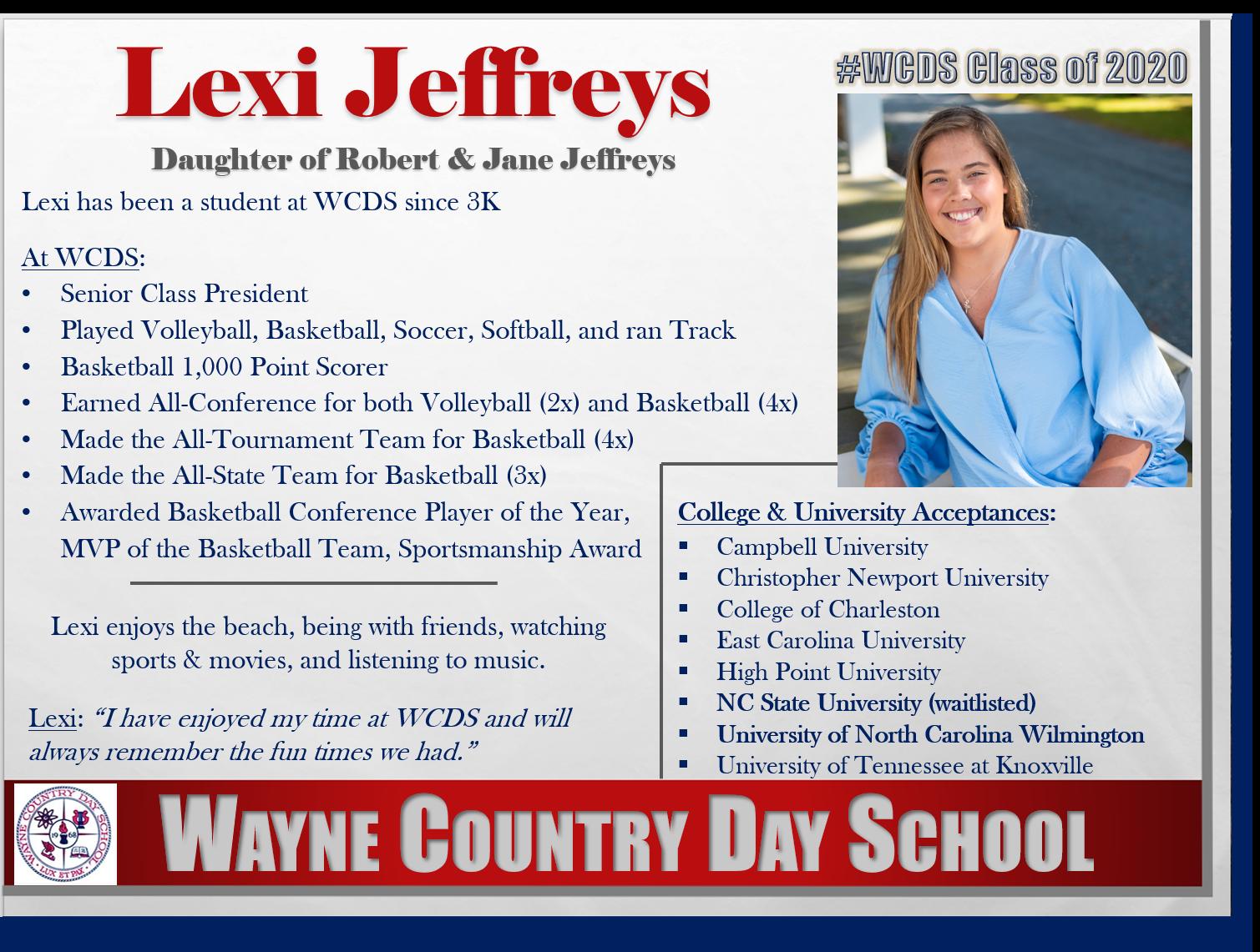 Lexi Jeffreys Profile