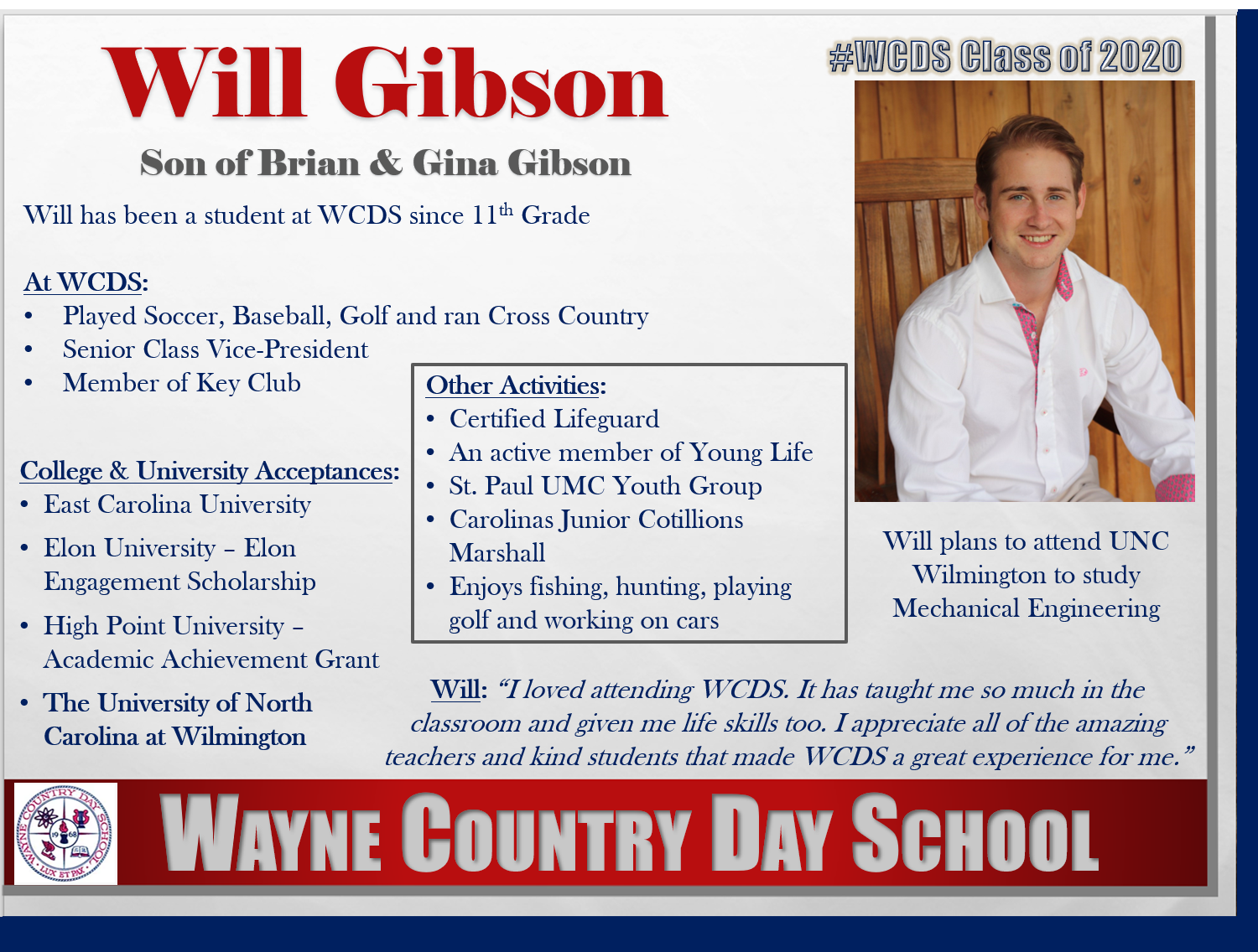 Will Gibson Profile