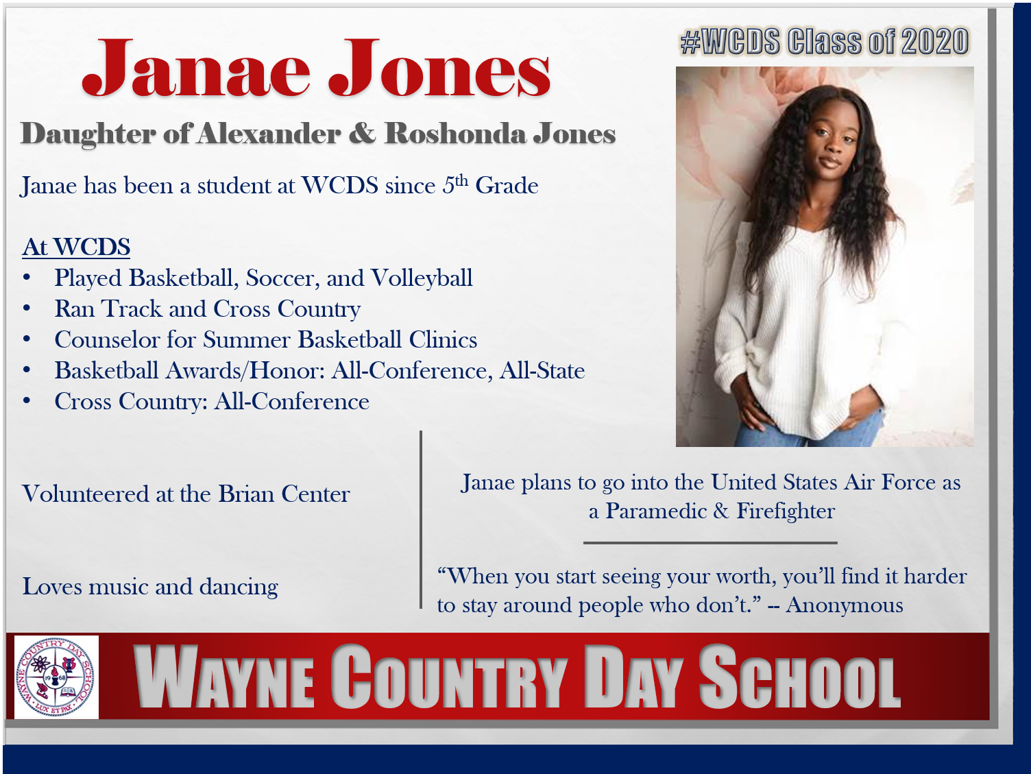 Janae Jones Profile