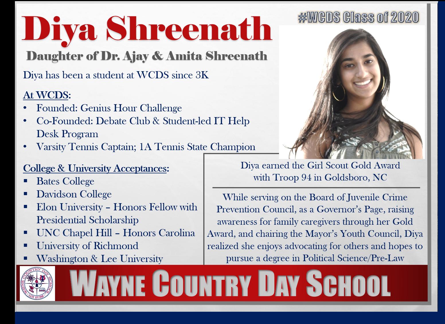 Diya Shreenath Profile