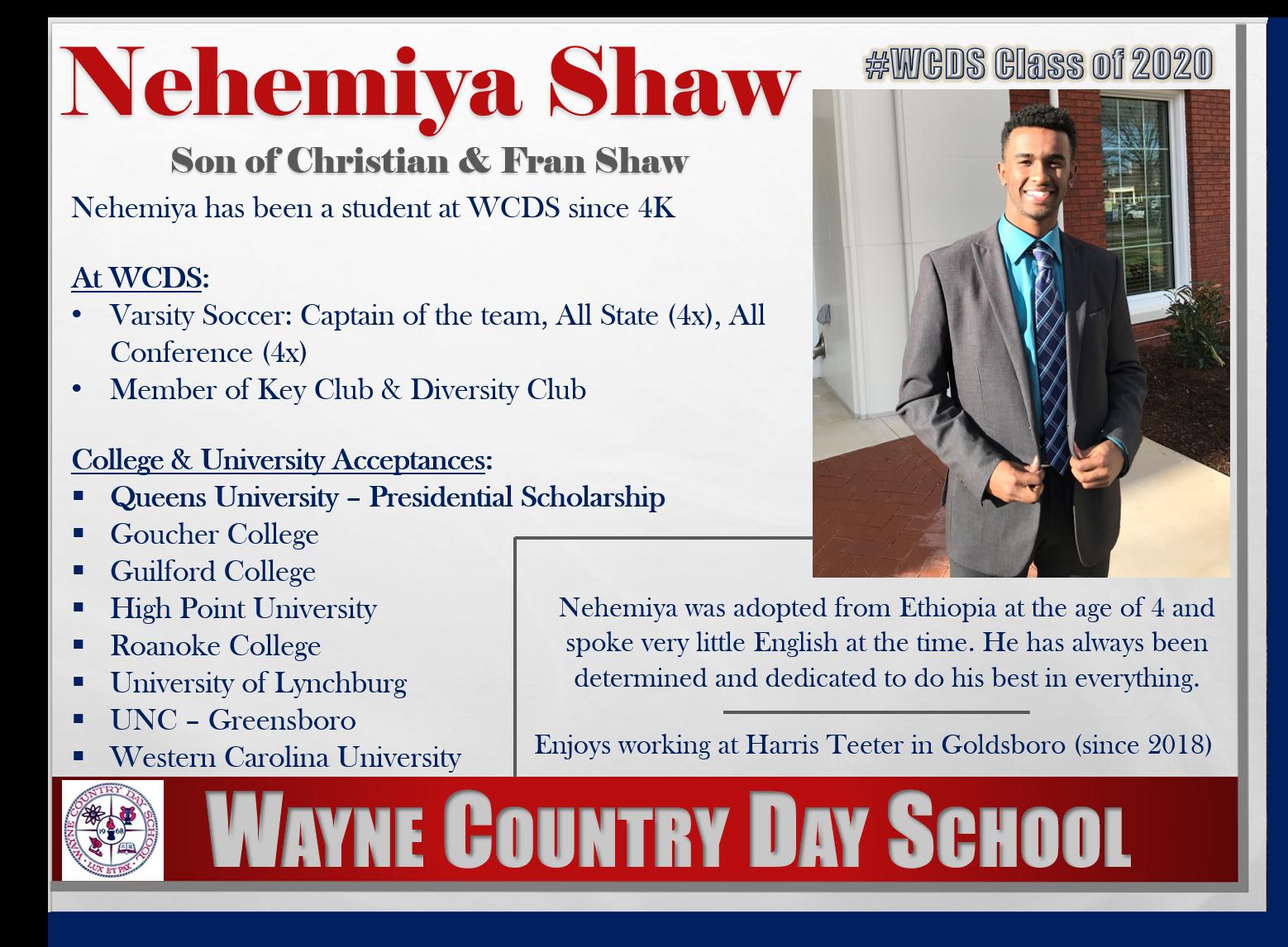 Nehemiya Shaw Profile