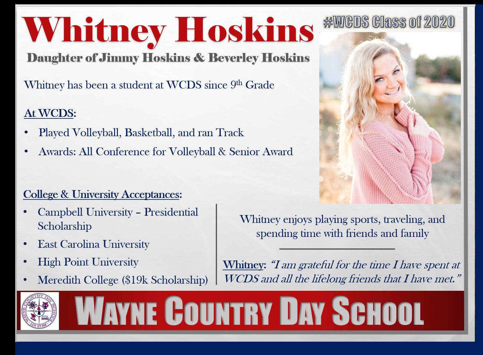 Whitney Hoskins Profile