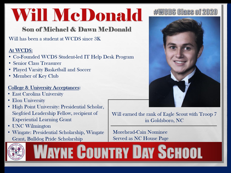 Will McDonald Profile