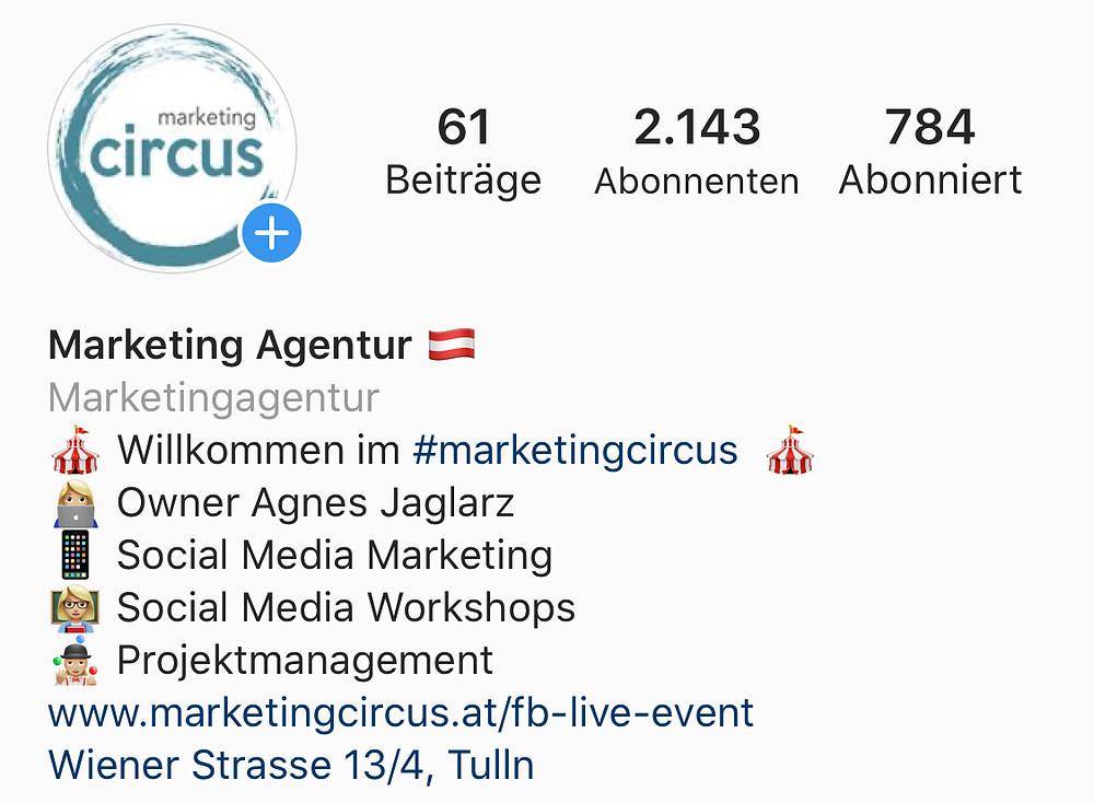 Steckbrief marketing circus