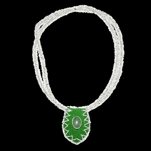 Green stingray-Silver Pyrite