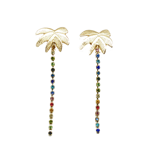SUMMER, palm tree earrings