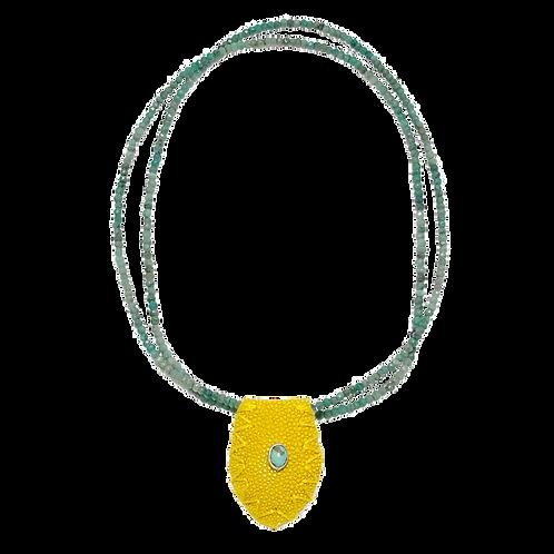 Yellow stingray-Chrysocolla