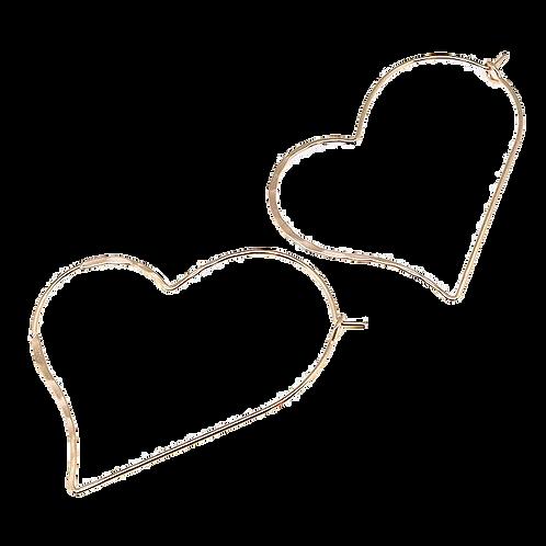 JEANNE heart hoop earrings