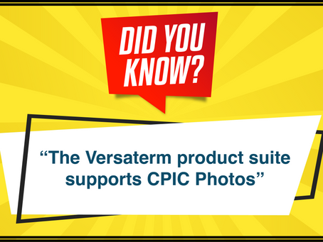 The Versaterm product suite supports CPIC photos.