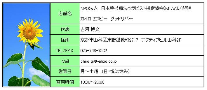カイロプラクティック|山科 | 日本 | カイロセラピーグッドリバー