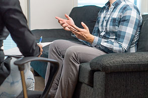 The Nurture Room   Man talking to counsellor in therapy