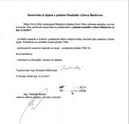 Zápis ze schůze Osadního výboru Bludovice ze dne 2. 10. 2017