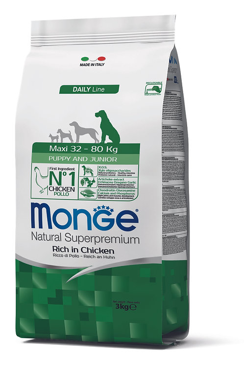 Monge Superpremium Dog Daily Line Maxi Puppy e Junior 3kg