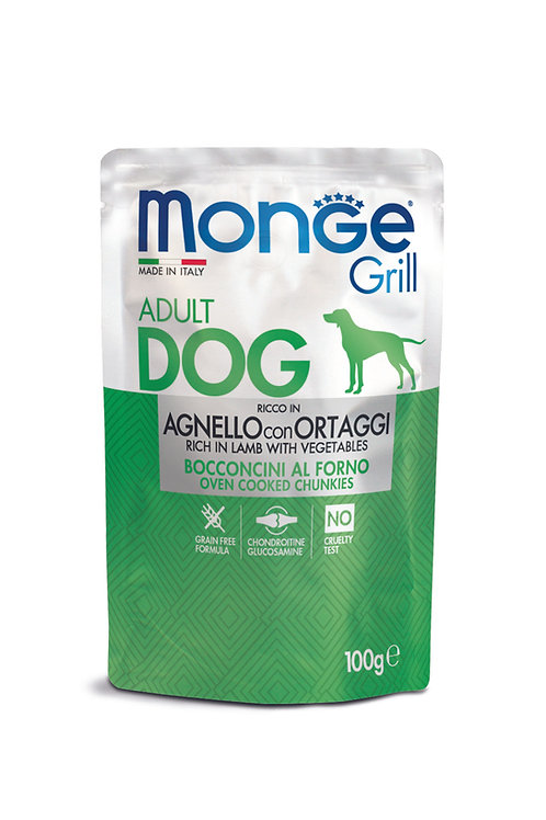 Monge Dog Daily Grill (Húmidos) Cordeiro e Vegs 100gr