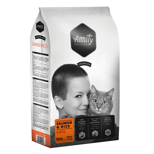 Amity Premium Salmon and Rice  Cats 500gr