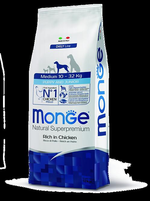 Monge Superpremium Dog Daily Line Medium Puppy e Junior 12kg