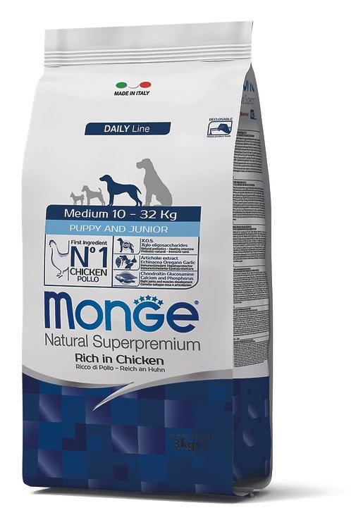 Monge Superpremium Dog Daily Line Medium Puppy e Junior 3kg