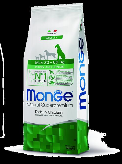 Monge Superpremium Dog Daily Line Maxi Puppy e Junior 12kg