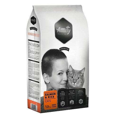 Amity Premium Salmon and Rice  Cats 1,5kg