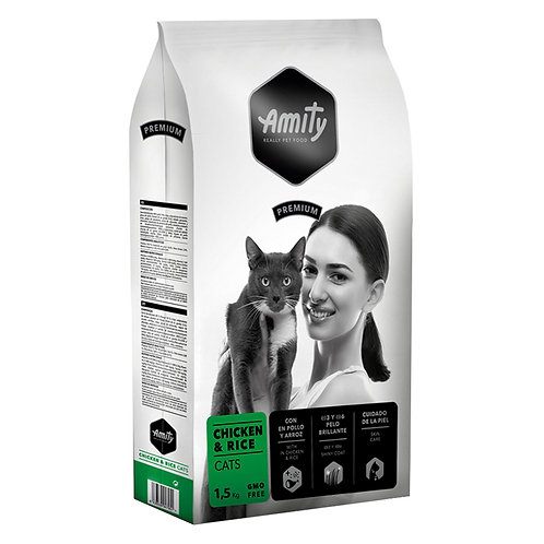 Amity Premium Chicken and Rice  Cats 1,5kg