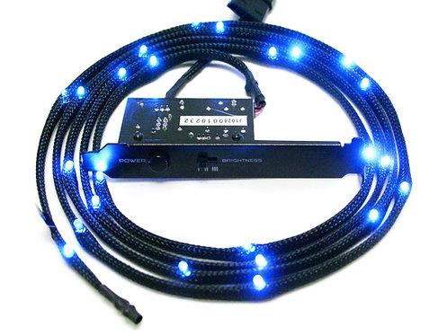NZXT Sleeved LED Kit - Blue (2 Meters)