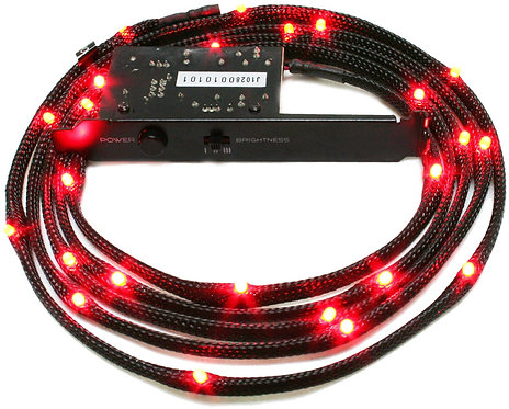 NZXT 2-Metres Sleeved LED Kit (RED)