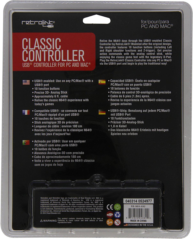 Retro N64 Controller (USB)