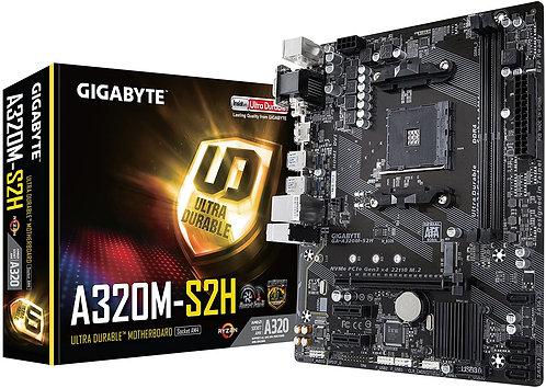 GIGABYTE GA-A320M-S2H AMD Ryzen AM4 MicroATX Motherboard