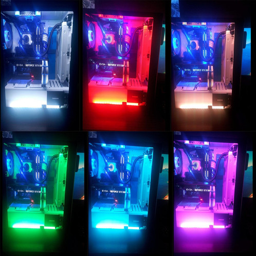 Rgb led light strips gamerigz these rgb led strip lights are great for decorating your workstation or gaming computer magnatic strips attach easily to the inside of your case and the mozeypictures Images