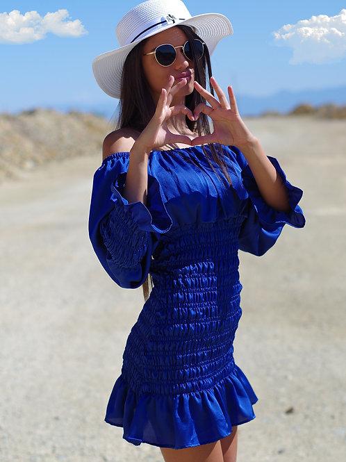 Рокля- Blue heart