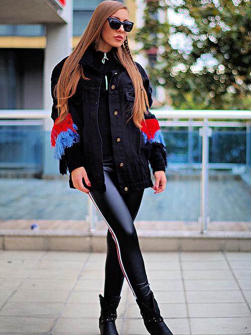Яке- Black denim jacket