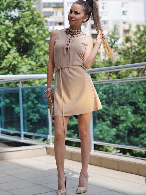 Рокля - Beige summer dress