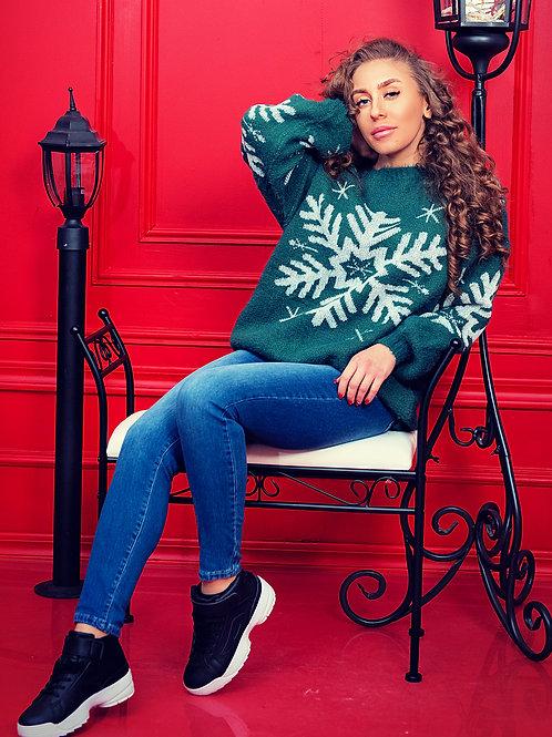 Пуловер- Green star