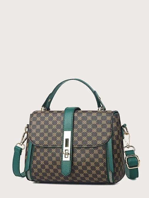 Чанта- Classic green