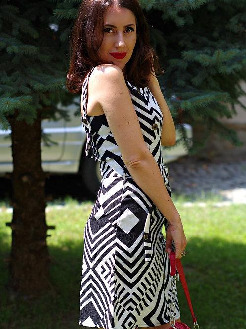 Рокля- Black & White dress