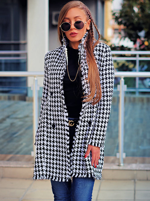 Палто- Stylish tweed coat