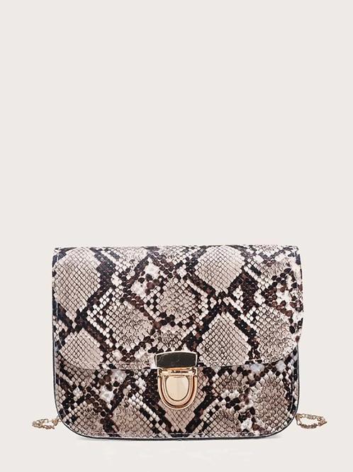 *Чанта- Snake print