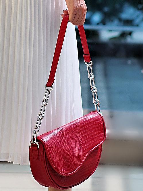 Чанта - Red leather