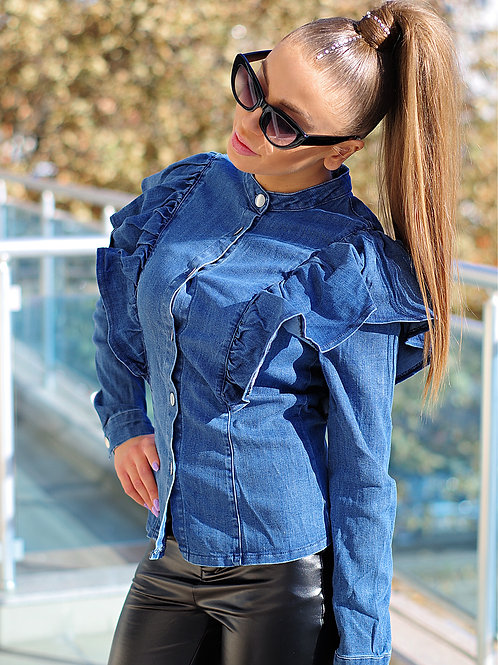 Риза- Denim blue
