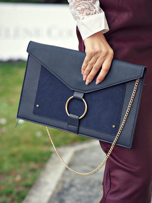 Чанта- Blue cluch
